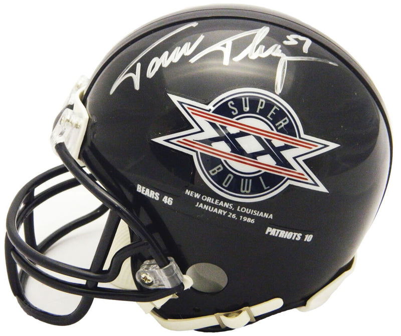 Tom Thayer Signed Chicago Bears / Super Bowl XX Champs Logo Riddell Mini Helmet PSM-Powers Sports Memorabilia