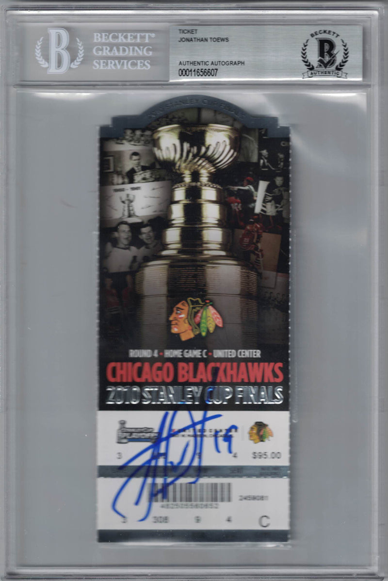 Jonathan Toews Signed Chicago Blackhawks Stanley Cup Ticket Game 5 BAS PSM-Powers Sports Memorabilia