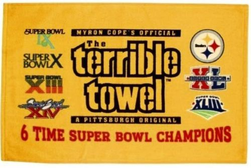 Pittsburgh Steelers Terrible Towel 6x Super Bowl Champions PSM-Powers Sports Memorabilia