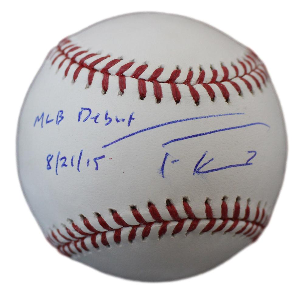 Trea Turner Autographed Washington Nationals OML Baseball MLB Debut JSA PSM-Powers Sports Memorabilia