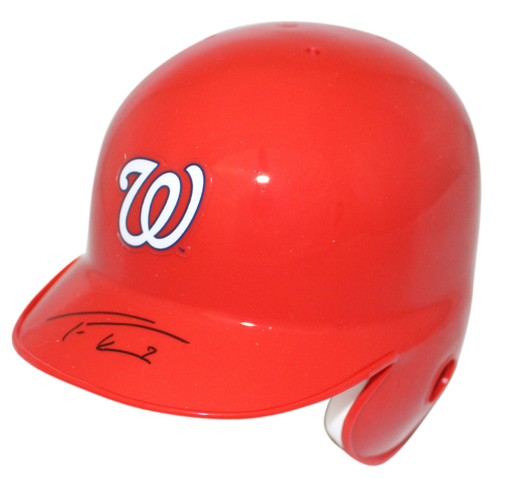 Trea Turner Autographed Washington Nationals Mini Batting Helmet JSA PSM-Powers Sports Memorabilia