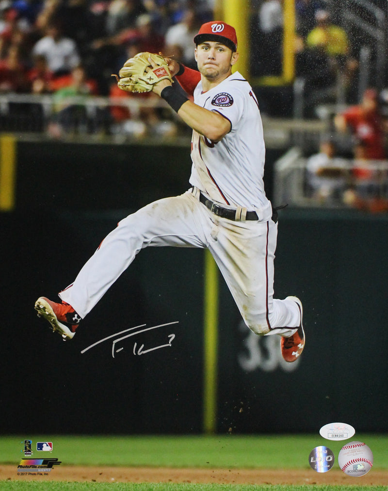 Trea Turner Autographed/Signed Washington Nationals 11x14 Photo JSA PF PSM-Powers Sports Memorabilia