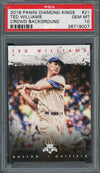 Ted Williams 2016 Panini Diamond Kings Crowd Background Baseball Card #21 Graded PSA 10 GEM MINT-Powers Sports Memorabilia