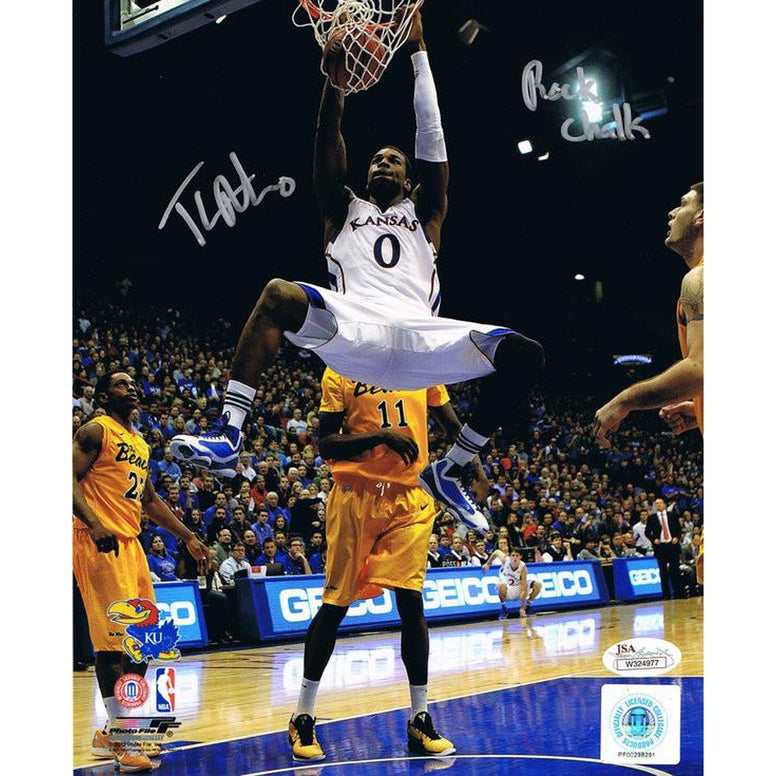 Thomas Robinson Signed Kansas 8x10 Autographed Photo Rock Chalk JSA-Powers Sports Memorabilia