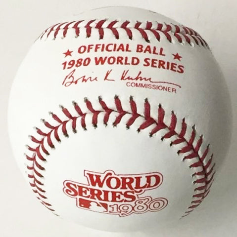 Rawlings Official 1980 World Series Baseball (Philadelphia Phillies vs Kansas City Royals) PSM