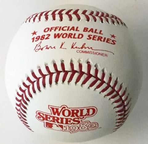 Rawlings Official 1982 World Series Baseball (St. Louis Cardinals vs Milwaukee Brewers) PSM-Powers Sports Memorabilia