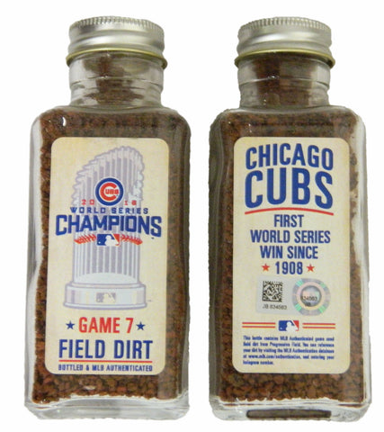 Chicago Cubs 2016 World Series Game 7 Game Used Field Dirt - MLB Authentication PSM-Powers Sports Memorabilia
