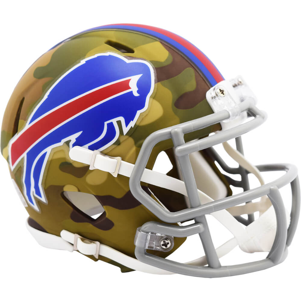 Buffalo Bills Camo Riddell Speed Mini Football Helmet PSM-Powers Sports Memorabilia