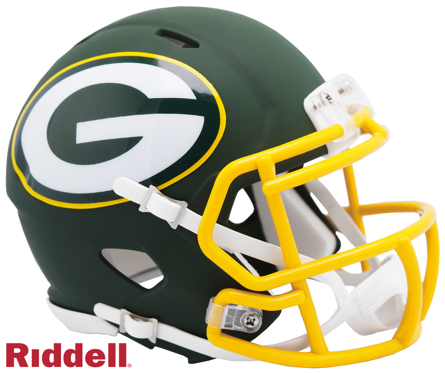Green Bay Packers AMP Alternate Series Riddell Speed Mini Football Helmet PSM-Powers Sports Memorabilia