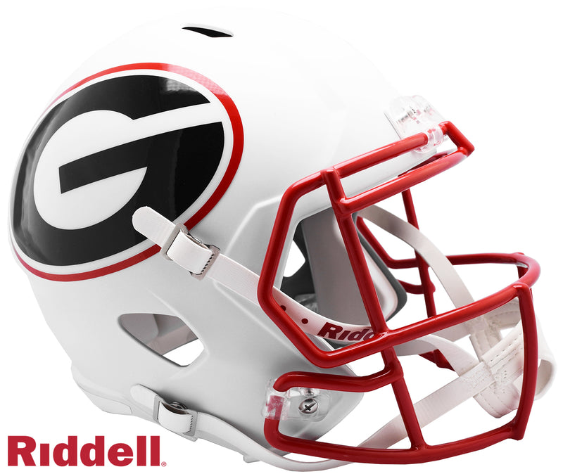 Georgia Bulldogs AMP Alternate Series Riddell Speed Full Size Replica Football Helmet PSM-Powers Sports Memorabilia