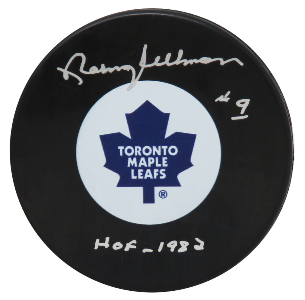 Norm Ullman Signed Toronto Maple Leafs Hockey Puck w/HOF 1982 PSM-Powers Sports Memorabilia