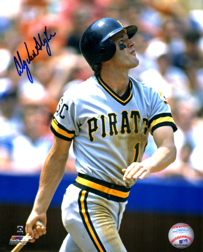 Andy Van Slyke Signed Pittsburgh Pirates Swinging Action 8x10 Photo PSM-Powers Sports Memorabilia