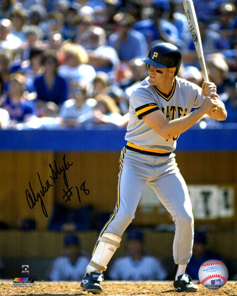 Andy Van Slyke Signed Pittsburgh Pirates Batting Action 8x10 Photo PSM-Powers Sports Memorabilia