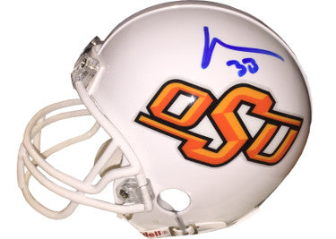 Vernand Morency signed Oklahoma State Cowboys Riddell Mini Helmet #33- Morency Hologram PSM-Powers Sports Memorabilia
