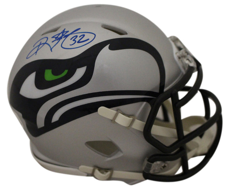 Ricky Watters Autographed/Signed Seattle Seahawks AMP Mini Helmet BAS PSM-Powers Sports Memorabilia