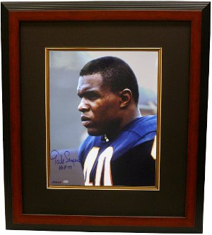 Gale Sayers signed Chicago Bears 16x20 Photo Custom Framing w/ HOF77- Sayers Hologram PSM-Powers Sports Memorabilia