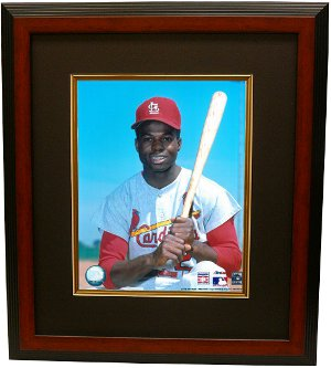 Lou Brock unsigned St. Louis Cardinals 8x10 Photo Custom Framed PSM-Powers Sports Memorabilia