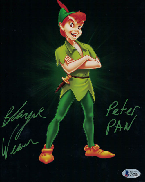 Blayne Weaver Autographed Peter Pan 8x10 Photo Disney Standing BAS PSM-Powers Sports Memorabilia