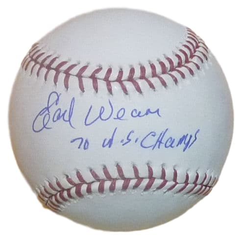 Earl Weaver Autographed Official Rawllings MLB Baseball w/70 W.S. Champs Baltimore Orioles PSM-Powers Sports Memorabilia