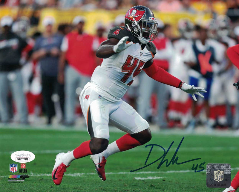 Devin White Autographed/Signed Tampa Bay Buccaneers 8x10 Photo JSA PF PSM-Powers Sports Memorabilia