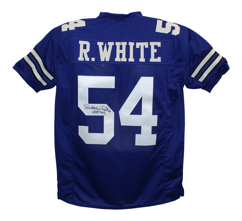 Randy White Autographed Dallas Cowboys Blue XL Jersey HOF JSA PSM-Powers Sports Memorabilia