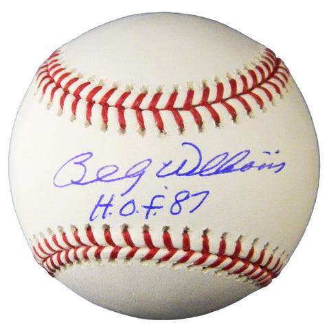 Billy Williams Signed Official MLB Baseball w/HOF'87 PSM-Powers Sports Memorabilia