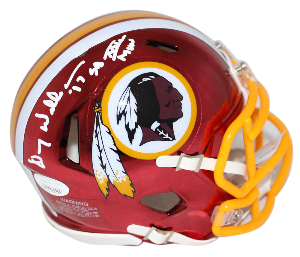 Doug Williams Signed Washington Redskins Chrome Mini Helmet SB MVP JSA PSM-Powers Sports Memorabilia
