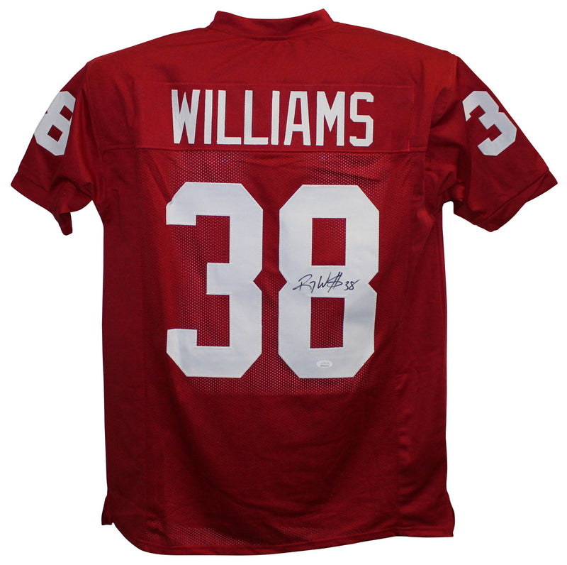 Roy Williams Autographed/Signed Oklahoma Sooners Red XL Jersey JSA PSM-Powers Sports Memorabilia