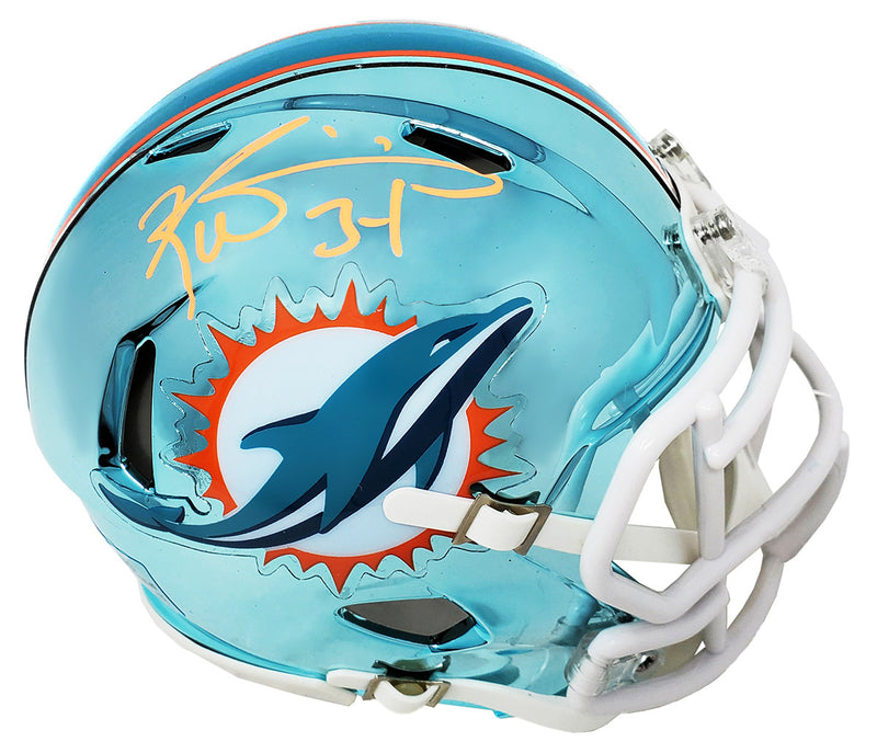 Ricky Williams Signed Miami Dolphins Chrome Riddell Speed Mini Helmet PSM-Powers Sports Memorabilia
