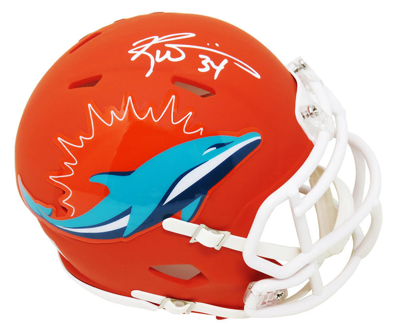 Ricky Williams Signed Miami Dolphins AMP Alternate Series Riddell Speed Mini Helmet PSM-Powers Sports Memorabilia
