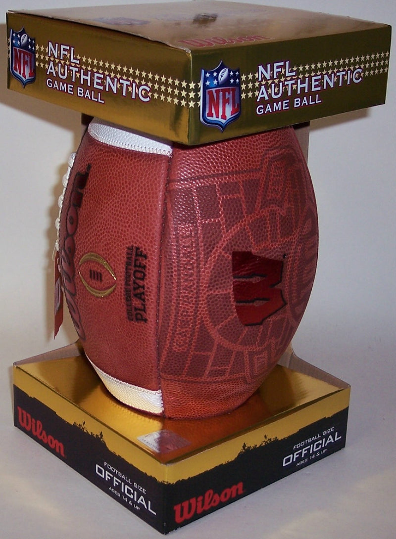 Wisconsin Badgers Official Wilson Leather NCAA Football PSM-Powers Sports Memorabilia