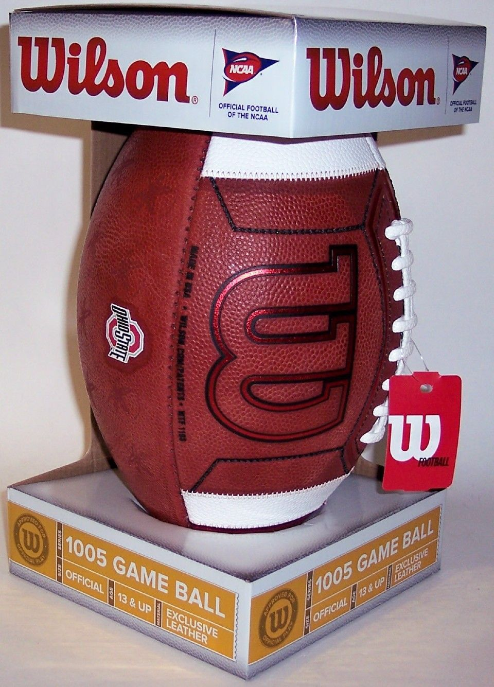 Ohio State Buckeyes Official Wilson NCAA Leather Game Football PSM-Powers Sports Memorabilia