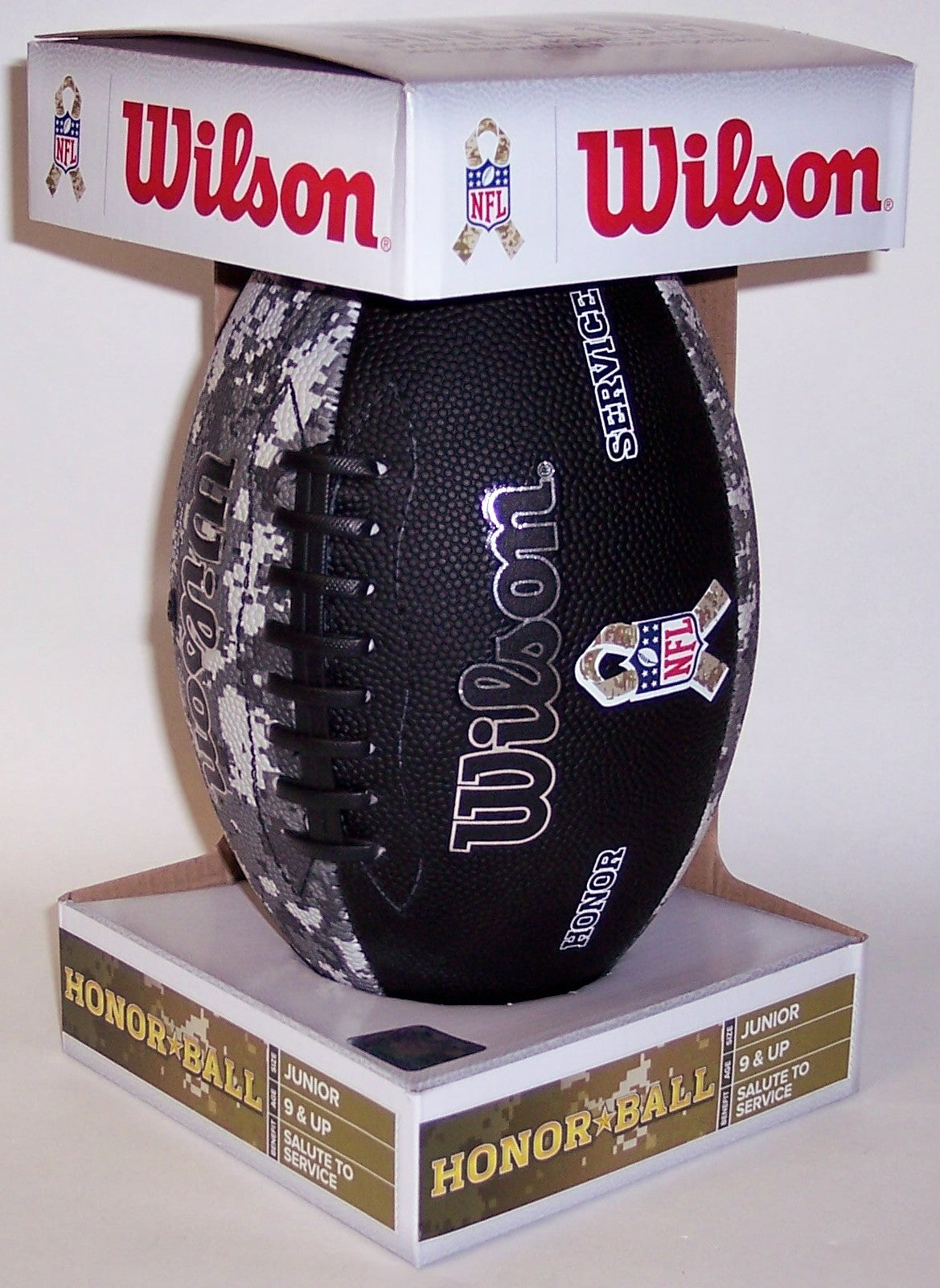 Wilson Camo Honor Salute to Service Junior NFL Football - F1588 PSM-Powers Sports Memorabilia