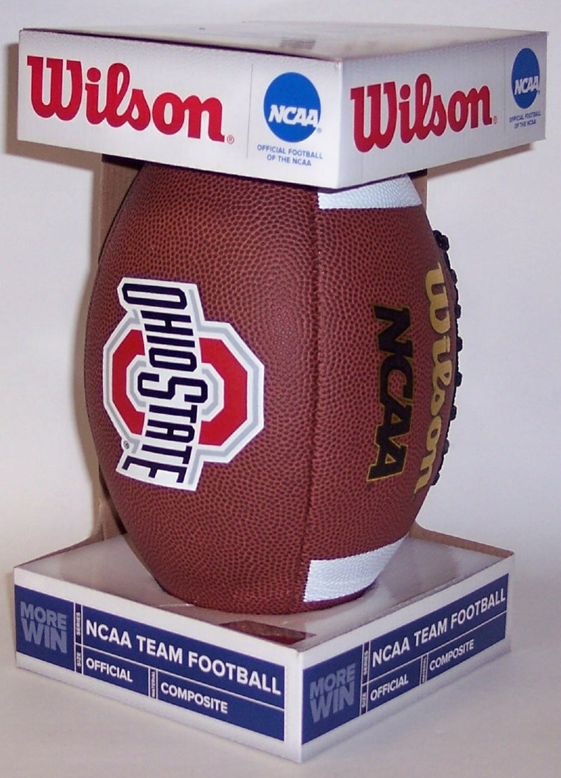 Wilson Ohio State Buckeyes Full Size Composite Leather NFL Football - F1738 PSM-Powers Sports Memorabilia