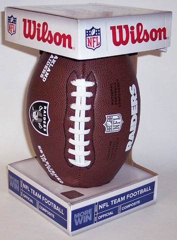 Wilson Oakland Raiders Full Size Composite NFL Football - F1748 PSM-Powers Sports Memorabilia