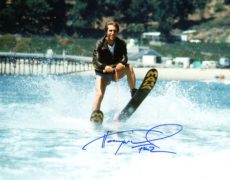 Henry Winkler Signed Happy Days Jumping The Shark 11x14 Photo w/Fonz PSM-Powers Sports Memorabilia