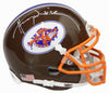 Henry Winkler Signed The Waterboy Mud Dogs Brown Mini Helmet PSM-Powers Sports Memorabilia