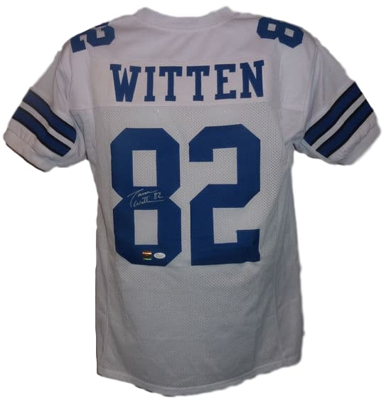 Jason Witten Autographed Dallas Cowboys size Xl white jersey JSA PSM-Powers Sports Memorabilia
