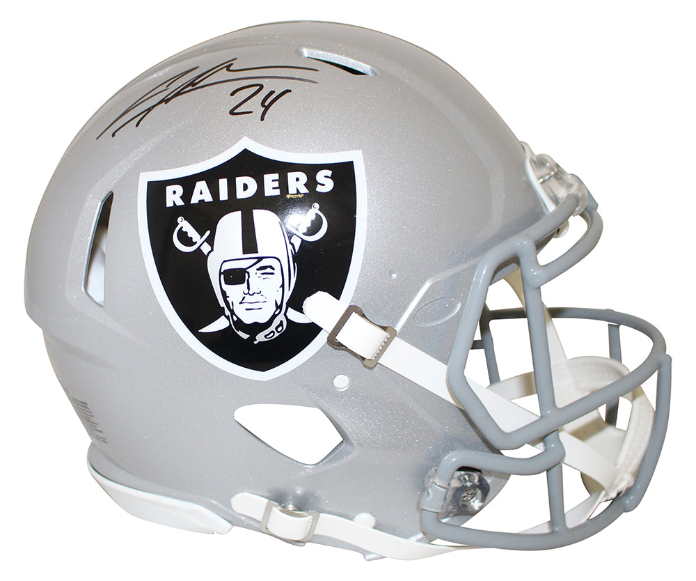 Charles Woodson Autographed Oakland Raiders Authentic Speed Helmet JSA PSM-Powers Sports Memorabilia