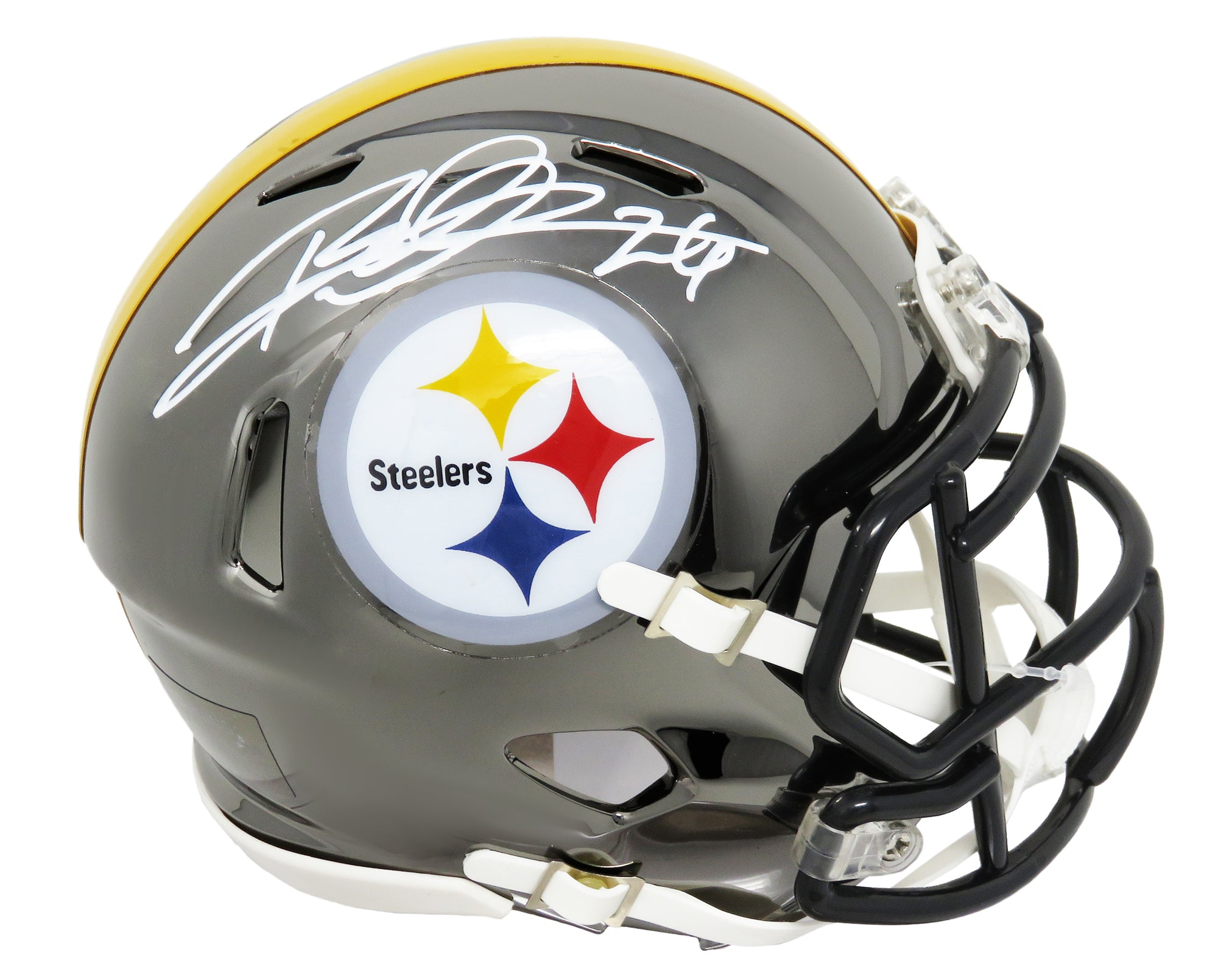 Rod Woodson Signed Pittsburgh Steelers Chrome Riddell Speed Mini Helmet PSM-Powers Sports Memorabilia
