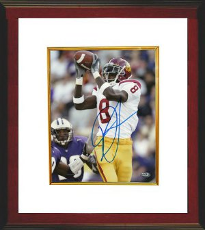 Dwayne Jarrett signed USC Trojans 8x10 Photo Custom Framing- Jarrett Hologram PSM-Powers Sports Memorabilia