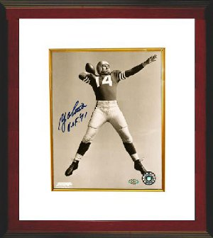 Y.A. Tittle signed San Francisco 49ers 8x10 Photo w/ HOF 71 Custom Framing PSM-Powers Sports Memorabilia