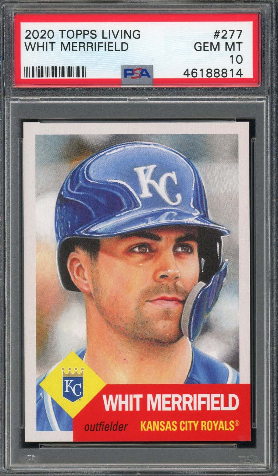 Whit Merrifield Kansas City Royals 2020 Topps Living Baseball Card #277 Graded PSA 10 GEM MINT-Powers Sports Memorabilia