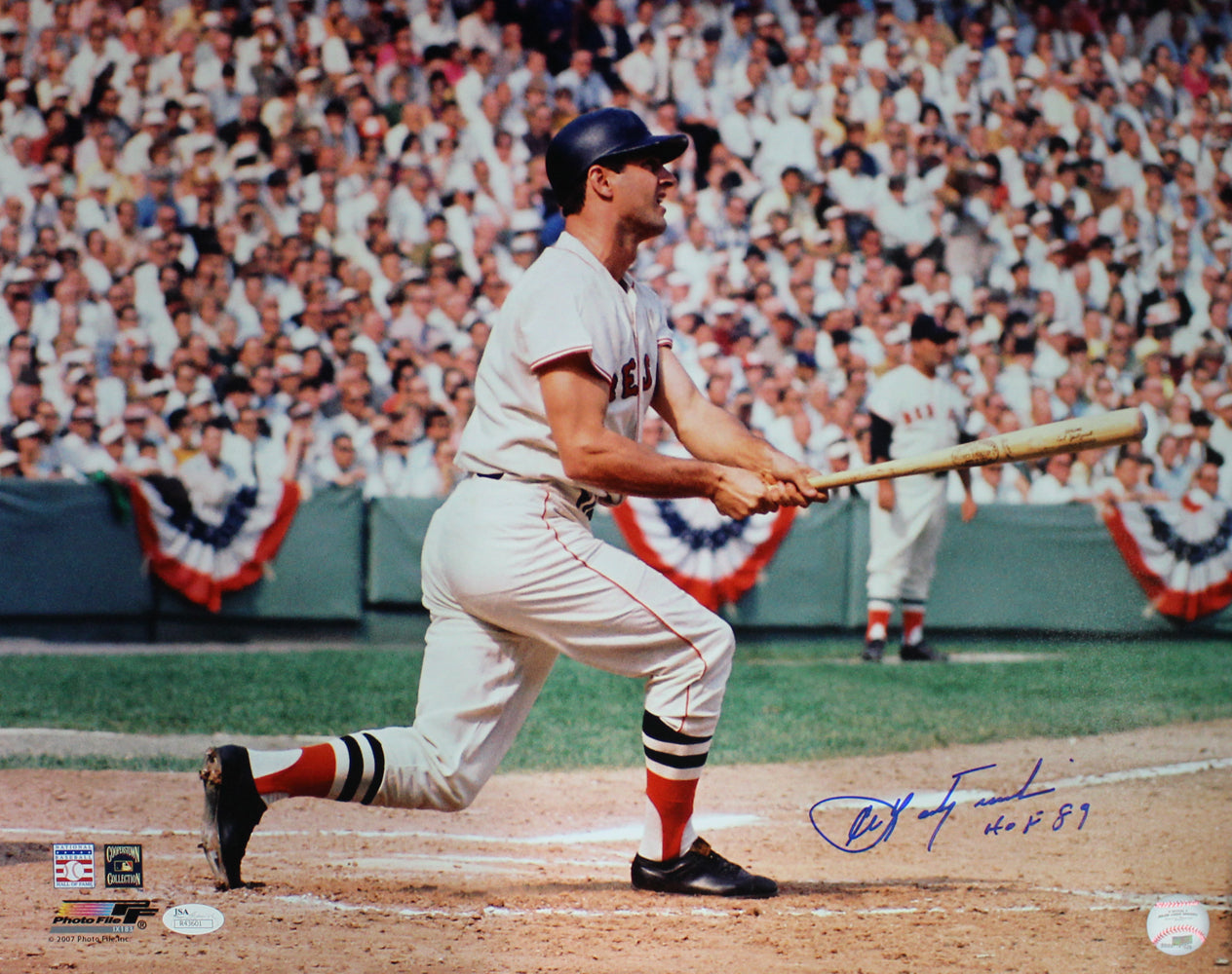 Carl Yastrzemski Autographed Boston Red Sox 16x20 Photo HOF JSA PSM-Powers Sports Memorabilia