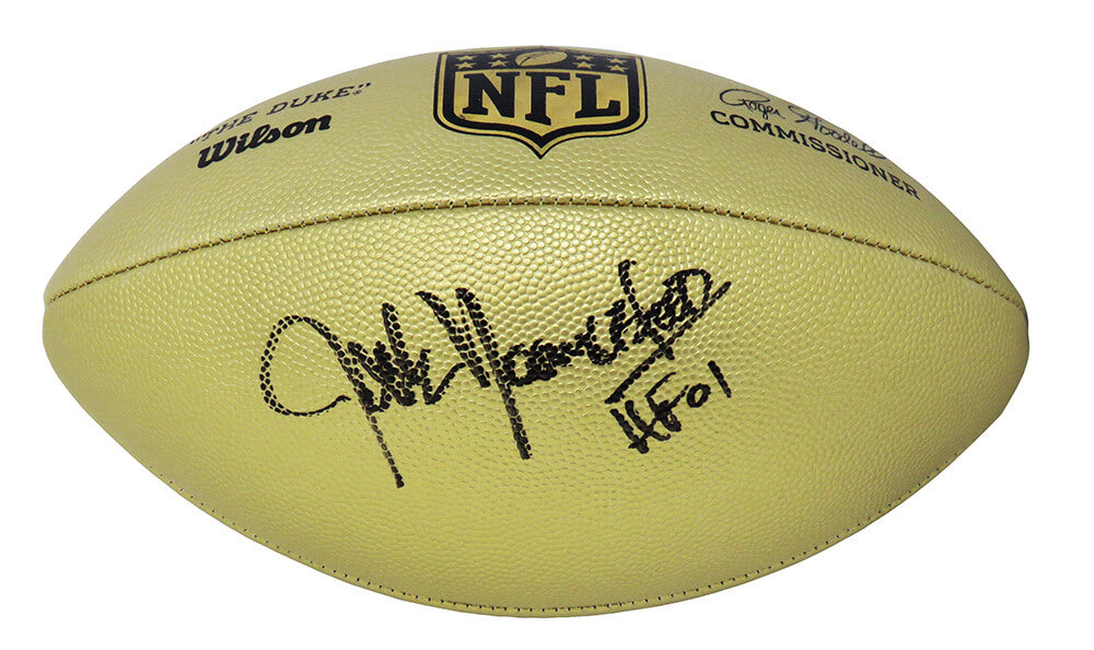 Jack Youngblood Signed Wilson Duke Gold Metallic NFL Full Size Replica Football w/HF'01 PSM-Powers Sports Memorabilia