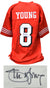 Steve Young Signed Red Custom Football Jersey (JSA) PSM-Powers Sports Memorabilia