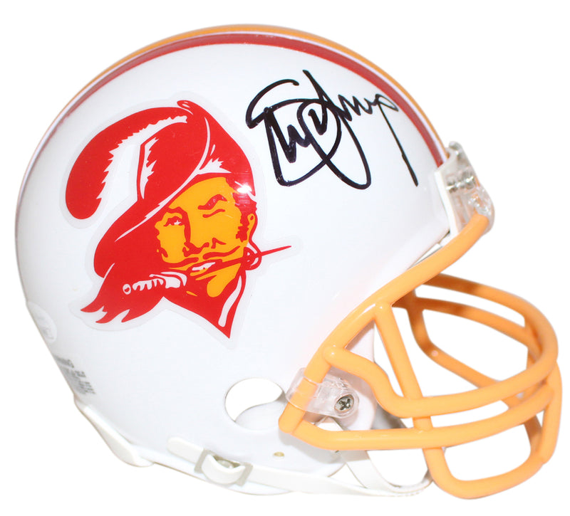 Steve Young Autographed Tampa Bay Buccaneers TB Mini Helmet JSA PSM-Powers Sports Memorabilia