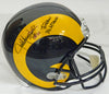 Jack Youngblood Signed LA Rams T/B Riddell Full-Size Replica Helmet w/HOF'01, 7x Pro Bowl, 70's All Decade PSM-Powers Sports Memorabilia