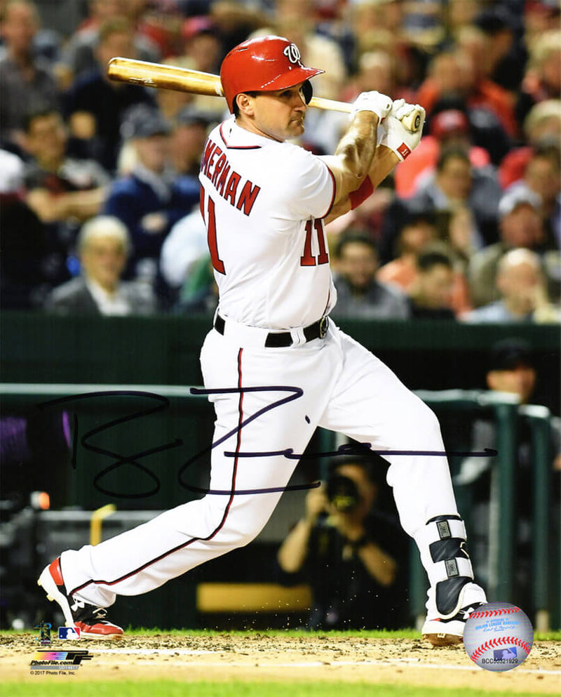 Ryan Zimmerman Signed Washington Nationals Action 8x10 Photo PSM-Powers Sports Memorabilia