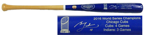 Ben Zobrist Signed Louisville Slugger Chicago Cubs 2016 World Series Champion Blue Dipped Bat PSM-Powers Sports Memorabilia